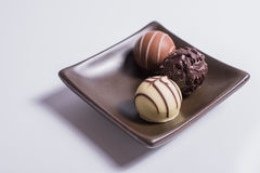 Tray of truffles Stock Images
