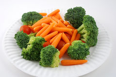 Tray of vegetables. Stock pictures of vegetables ready to be eaten in a tray Stock Photography