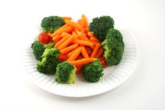 Tray of vegetables. Stock pictures of vegetables ready to be eaten in a tray Stock Image