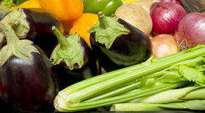 Tray of vegetables Royalty Free Stock Image