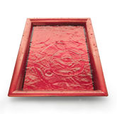 Tray with water Royalty Free Stock Photo