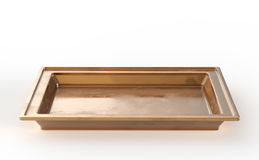 Tray on white background Royalty Free Stock Photos