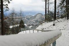 Trayectoria abajo de la montaña, castillo de Neuschwanstein Imagen de archivo