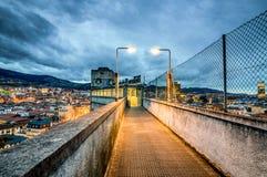 Trayectoria al horizonte de Bilbao Foto de archivo libre de regalías