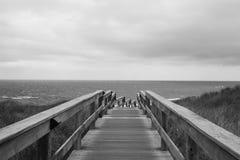 Trayectoria al mar Fotos de archivo libres de regalías