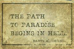 Trayectoria al paraíso Dante Fotografía de archivo libre de regalías