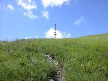 Trayectoria al top de la montaña Foto de archivo
