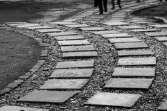 Trayectoria curvada al éxito Foto de archivo