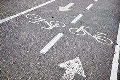 Trayectoria de la bici en el parque imagenes de archivo
