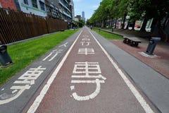 Trayectoria de la bici en Gaoxiong Foto de archivo