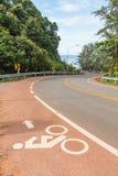 Trayectoria de la bici a lo largo de la playa Fotografía de archivo libre de regalías