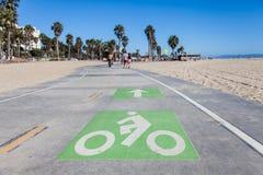 Trayectoria de la bicicleta Foto de archivo