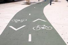 Trayectoria de la bicicleta en Lisboa fotos de archivo