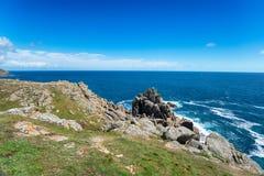 Trayectoria de la costa el al frente de Gwennap Imagenes de archivo