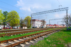 Trayectoria de la distancia de Gomel, Gomel, Bielorrusia Fotos de archivo
