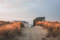 Trayectoria de la duna a la playa Foto de archivo