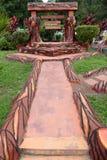 Trayectoria de la naturaleza con el jardín Imágenes de archivo libres de regalías