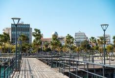 Trayectoria de la orilla del mar en Limassol Foto de archivo libre de regalías