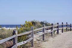 Trayectoria de la playa Fotografía de archivo