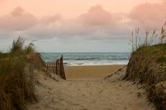 Trayectoria de la playa Foto de archivo