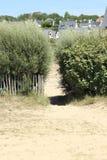 Trayectoria de la playa Imagen de archivo libre de regalías