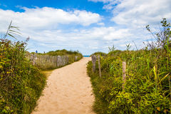 Trayectoria de la playa de Normandía Imagen de archivo
