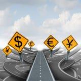 Trayectoria de la solución de la estrategia de la moneda ilustración del vector