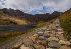 Trayectoria de los mineros de Snowdonia País de Gales Fotos de archivo libres de regalías