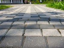 Trayectoria de pavimentación rectangular Foto de archivo libre de regalías