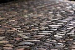 Trayectoria de piedra del camino del adoquín Fotografía de archivo