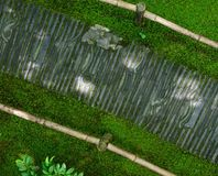 Trayectoria de piedra de doblez, jardín japonés Foto de archivo