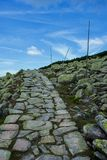 Trayectoria de piedra en Krkonose Foto de archivo