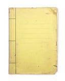 Carpeta amarilla vieja. Foto de archivo libre de regalías