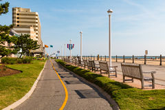 Trayectoria de Virginia Beach Oceanfront Boardwalk Bike foto de archivo