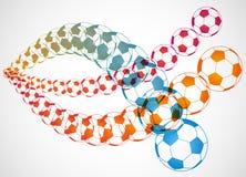 Trayectoria del balón de fútbol Imagenes de archivo