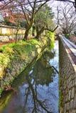Trayectoria del filósofo en Kyoto Imágenes de archivo libres de regalías