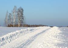 Trayectoria del invierno Fotografía de archivo libre de regalías
