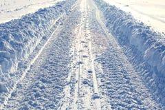 Trayectoria del invierno Fotografía de archivo