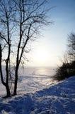 Trayectoria del invierno Imágenes de archivo libres de regalías