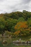 Trayectoria del paseo en el jardín japonés Imágenes de archivo libres de regalías
