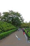 Trayectoria del paseo en el jardín japonés Fotos de archivo libres de regalías