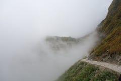Trayectoria del senderismo de la montaña Imágenes de archivo libres de regalías