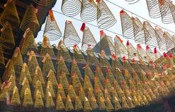Trayectoria del templo del incienso de la belleza durante día de año nuevo lunar Fotos de archivo libres de regalías