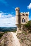 Trayectoria del viaje de Magdala y el caminar en Rennes le Chateau Fotografía de archivo