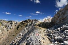Trayectoria en canto alpino fotografía de archivo libre de regalías