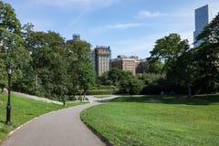 Trayectoria en el Central Park New York City fotos de archivo