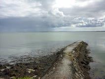 Trayectoria en el mar Fotografía de archivo libre de regalías