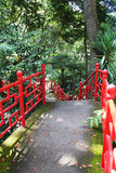 Trayectoria en jardín japonés Fotografía de archivo libre de regalías