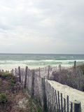 Trayectoria en la playa Imagen de archivo libre de regalías