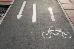Trayectoria gris de la bici Imagenes de archivo